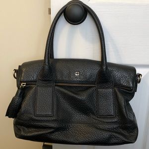 Kate Spade purse. Black, with striped liner